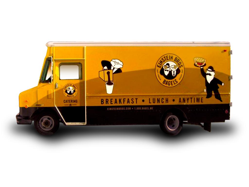 Custom vehicle wrap for food truck