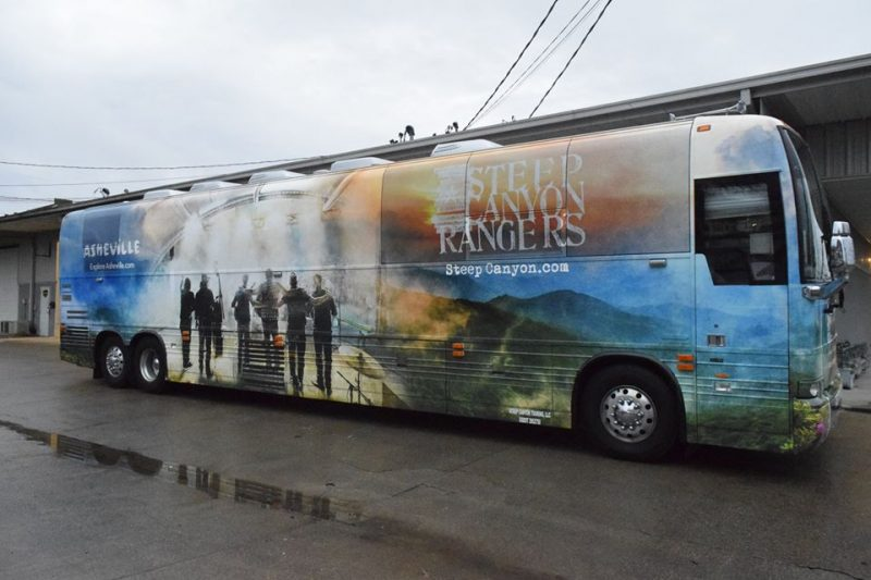Custom tour bus wrap Nashville