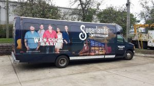 Tour bus vehicle wrap